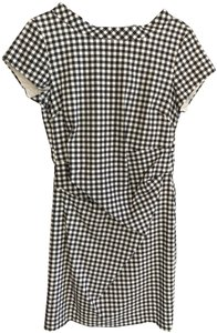 Sara Campbell Checkered Evening Night Out Stretchy Gingham Dress
