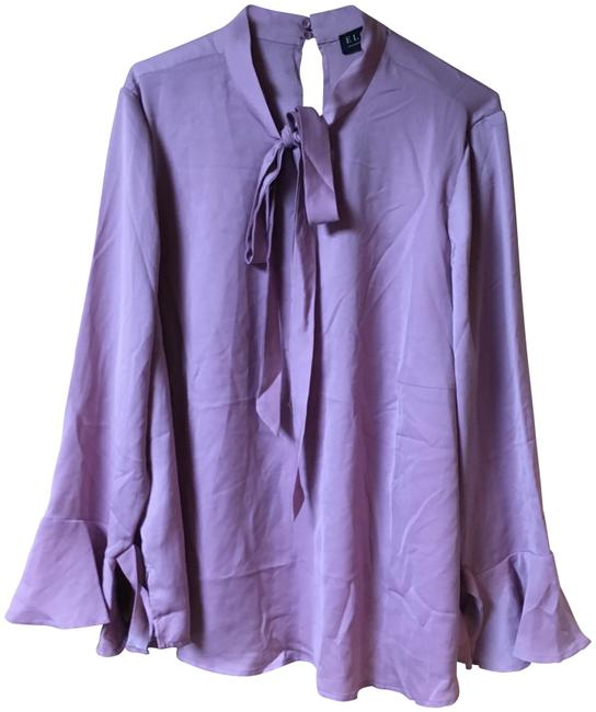 Eloquii Light Pink/Lavender Blouse Size 18 (XL, Plus 0x) Eloquii Light Pink/Lavender Blouse Size 18 (XL, Plus 0x) Image 1