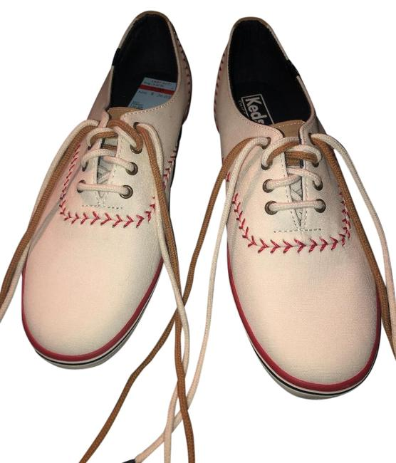Item - Off White Red Tan Baseball Pennant Sneakers Size US 8.5 Regular (M, B)