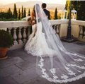 Long Cathedral 3m/10ft 1t White Or Ivory Bridal Veil Image 0