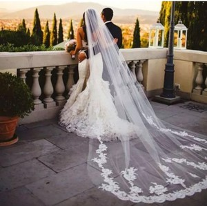 Long Cathedral 3m/10ft 1t White Or Ivory Bridal Veil