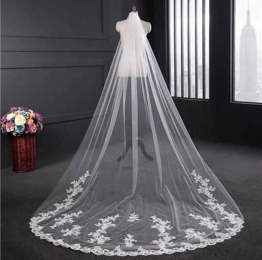 Long Cathedral 3m/10ft 1t White Or Ivory Bridal Veil Image 1