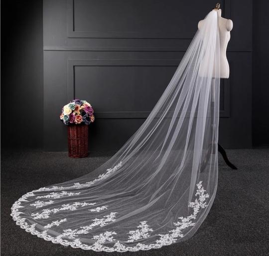 Long Cathedral 3m/10ft 1t White Or Ivory Bridal Veil Image 2