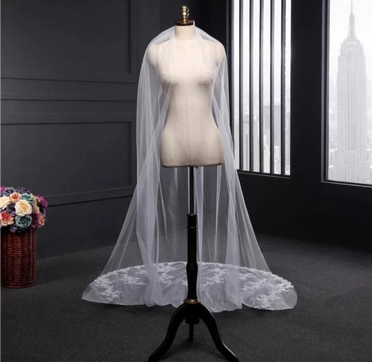 Long Cathedral 3m/10ft 1t White Or Ivory Bridal Veil Image 3