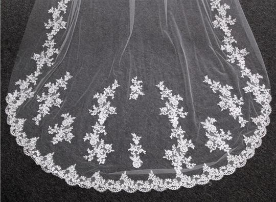 Long Cathedral 3m/10ft 1t White Or Ivory Bridal Veil Image 4