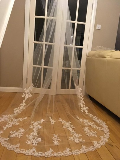 Long Cathedral 3m/10ft 1t White Or Ivory Bridal Veil Image 6