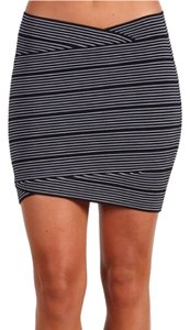 BCBG Mini Skirt Black, White