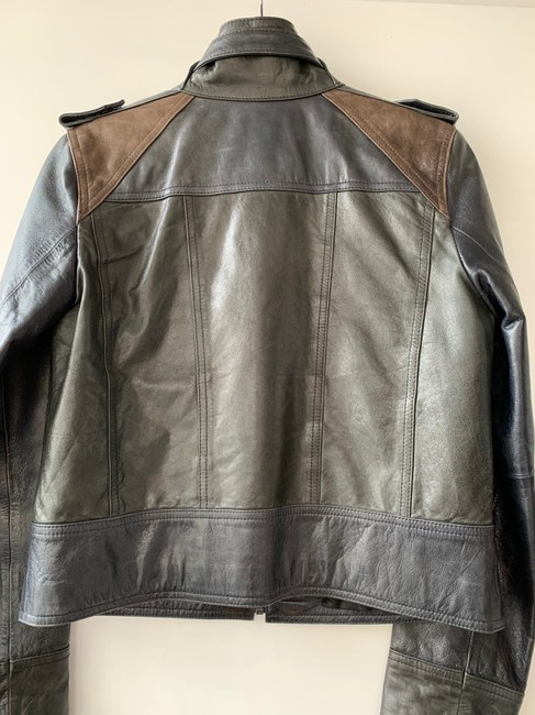 Kenneth Cole Black Navy Blue Green Brown Jacket Size 6 (S) Kenneth Cole Black Navy Blue Green Brown Jacket Size 6 (S) Image 5
