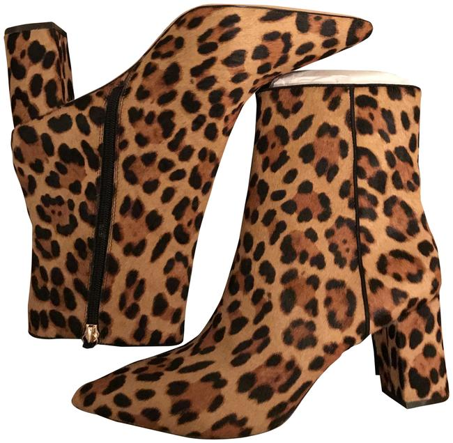 Item - Rich Mahogany Pointed-toe Sadie Leopard Calf Hair. Color: Boots/Booties Size US 10 Regular (M, B)