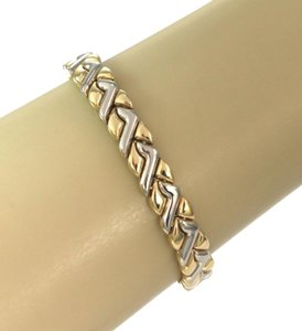 Chimento Fancy 18k Two Tone Gold Design Bracelet