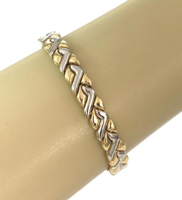 Item - L24027 Fancy 18k Two Tone Gold Design Bracelet