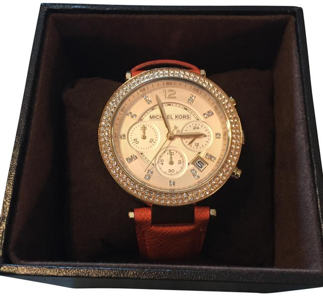Item - Orange and Gold Jeweled With Watch