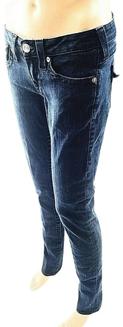 Item - Blue Dark Rinse Decorated Pockets Skinny Jeans Size 27 (4, S)