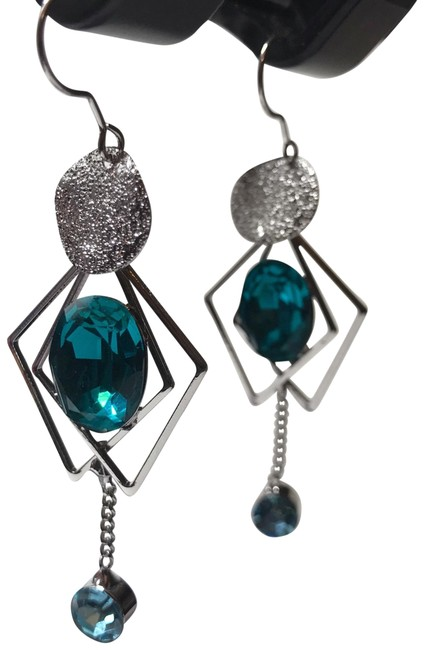 Item - Blue and Sliver 1 Earrings