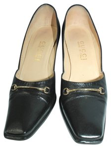 Gucci Leather Heels BLACK Pumps