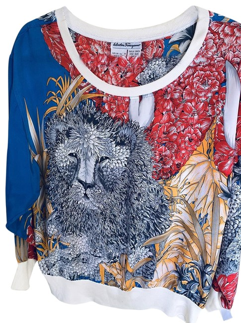 Item - Lion Jungle Print Jumper Multicolor Sweater
