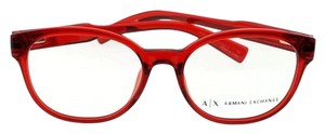 A X Armani Exchange AX3040F-8209-53 Women's Red Frame Clear Lens Eyeglasses