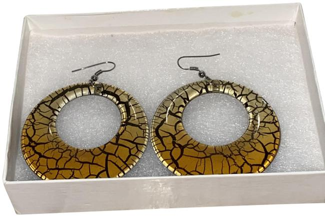 Item - Gold Sparkly Crystal Earrings