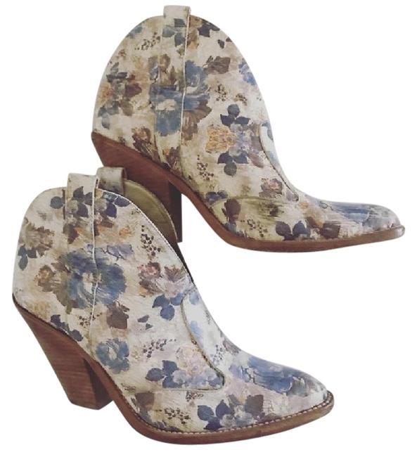 Item - Floral Print Western Boots/Booties Size US 9 Regular (M, B)