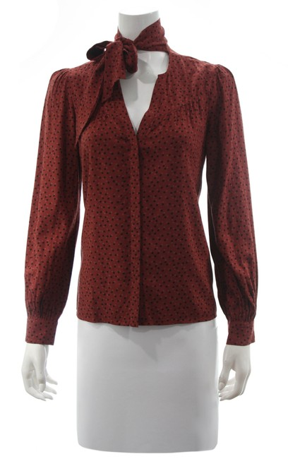 Item - Red Peteluma In Dark Rust & Light Mahogany Small Blouse Size 4 (S)