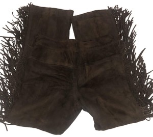 Saks Fifth Avenue Relaxed Pants brown suede