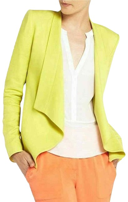 Item - Yellow Neon Bcbg Max Azria Abree Waterfall Jacket Blazer Size 2 (XS)