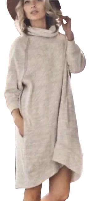 Item - Oatmeal Cocoon Beach Cowl Neck Sweater Mid-length Casual Maxi Dress Size 2 (XS)