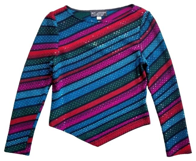 Item - Evening Collection Sparkle Red Blue Green Sweater