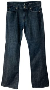 7 for all mankind Boot Cut Straight Leg Jeans-Dark Rinse