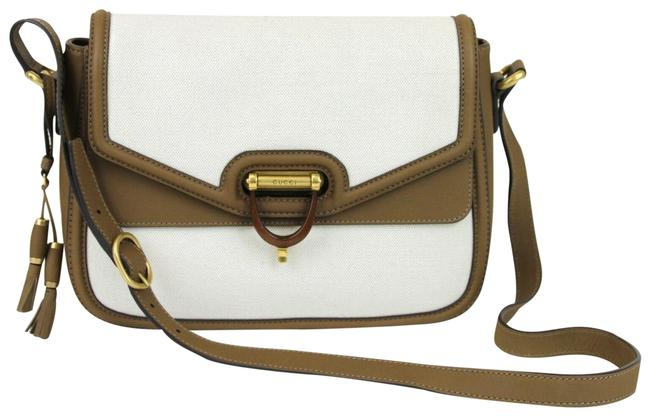 Item - W Derby W/Leather Trim C 309586 9583 White Canvas Messenger Bag