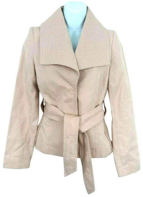 Item - Blush Linen Belted Blazer Jacket Size 4 (S)