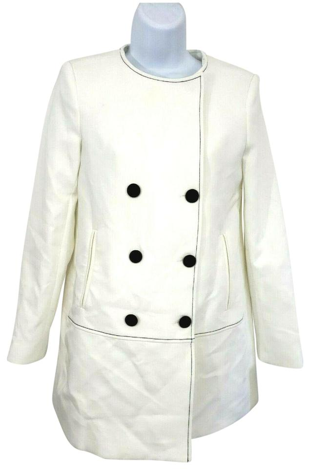official store best cheap unique design Zara White Double Breasted Blazer Jacket Coat Size 2 (XS) - Tradesy