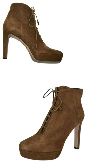 Item - Brown 1tp256 Tabacco Suede Short Platform Ankle Lace Up Classic Boots/Booties Size EU 40 (Approx. US 10) Regular (M, B)