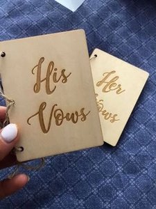 Wood His and Her Vow Books