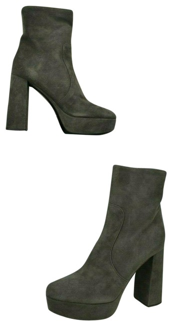 Item - Gray 1tp221 Suede Short Platform Ankle Classic Zip Italy Boots/Booties Size EU 39 (Approx. US 9) Regular (M, B)