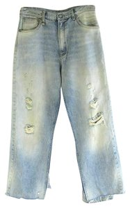 R13 Distressed Sasha High Rise Layered Relaxed Fit Jeans-Distressed
