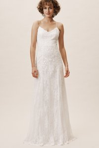 BHLDN Ivory Lace Heartloom Amory Feminine Wedding Dress Size 8 (M)