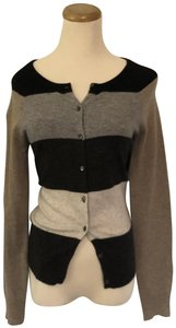 Autumn Cashmere Striped Cardigan Elbow Patches Sweater