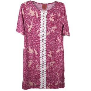 Tracy Negoshian Flower Lace Sheath Retro Hippie Dress