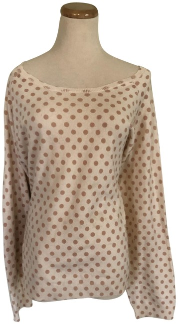 Cashmere Polka 2 Ivory and Tan Sweater Cashmere Polka 2 Ivory and Tan Sweater Image 1