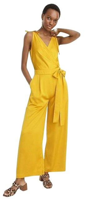 Item - Yellow Collection 00 Wide Leg Satin Party Romper/Jumpsuit