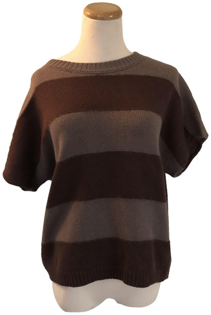 Preload https://img-static.tradesy.com/item/26898063/peserico-tricot-striped-sz-44-tan-and-brown-sweater-0-1-650-650.jpg