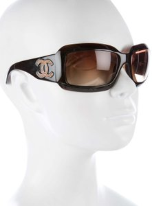 Chanel 6022 CC Logo LIZARD LEATHER QUILTED Oversized Wrap Classic Timeless