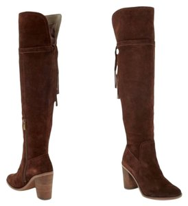 Franco Sarto Ellyn Over The Knee Suede brown Boots