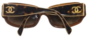 Chanel Chanel Brown Tortoise Gold Cc Logo Sunglasses
