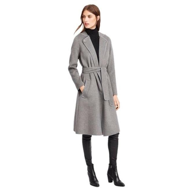 Item - Gray Belted Wrap Car Coat Size 8 (M)