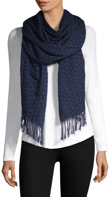 Item - Navy (Nwt) Fringed Cotton Scarf/Wrap