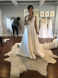 BHLDN Ivory Octavia Gown Modern Wedding Dress Size 0 (XS)