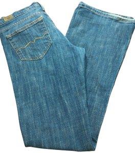 Red Engine Distressed Embroidered Boot Cut Jeans-Medium Wash