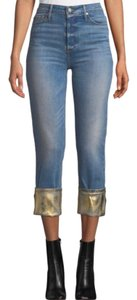 Black Orchid Denim Straight Leg Jeans-Light Wash